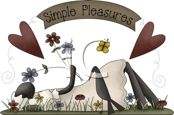 Royalty Free Clipart Image of a Sheep Lying Down in a Meadow