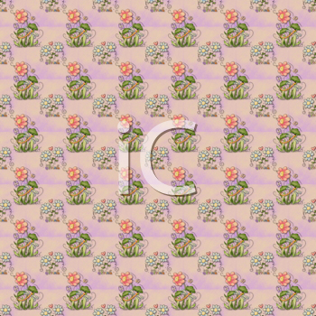Royalty Free Clipart Image of a Dragonfly and Flower Background