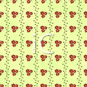 Royalty Free Clipart Image of a Striped Floral Background