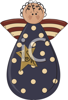 Royalty Free Clipart Image of an American Angel
