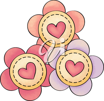 Royalty Free Clipart Image of a Flowers