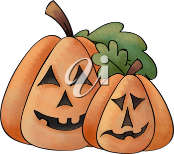 Royalty Free Clipart Image of Jack O' Lanterns