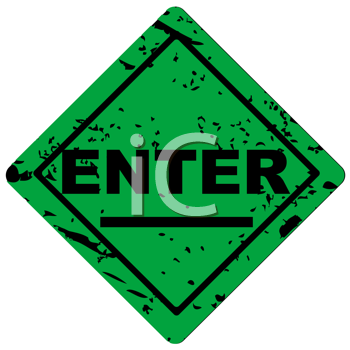 Royalty Free Clipart Image of a Grunge Enter Sign