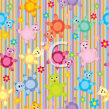Royalty Free Clipart Image of a Striped Bear Background