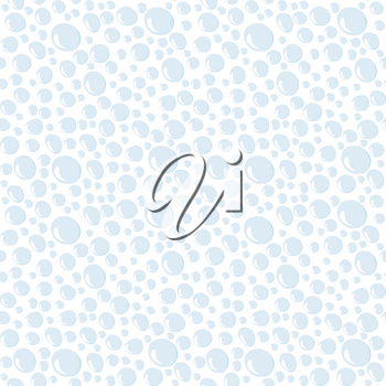 Doodle style seamless background of water drops