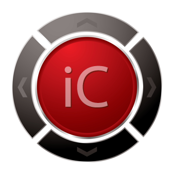Royalty Free Clipart Image of a Red Button