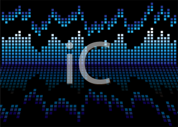 Royalty Free Clipart Image of a Blue Graph
