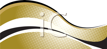Royalty Free Clipart Image of a Golden Wave