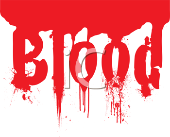 Royalty Free Clipart Image of the Word Blood