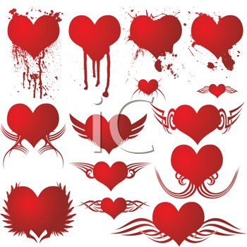 Royalty Free Clipart Image of a Heart Collection