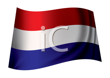 Royalty Free Clipart Image of a Dutch Flag