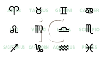 Royalty Free Clipart Image of Astrological Signs