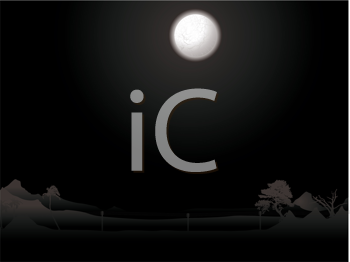 Royalty Free Clipart Image of a Dark Night