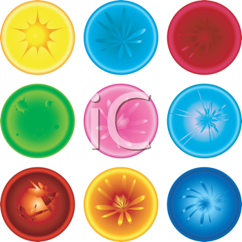 Royalty Free Clipart Image of a Set of Marbles