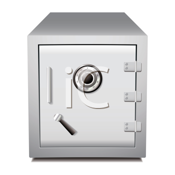 Silver secure metal money or valuables dial safe