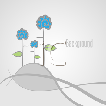Royalty Free Clipart Image of a Background With Abstract Flowers