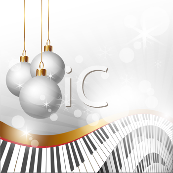 Royalty Free Photo of a Christmas Keyboard Design