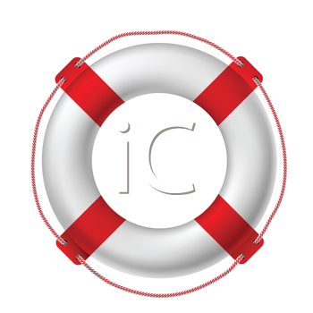 Royalty Free Clipart Image of a White Life Buoy