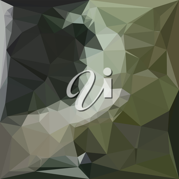 Low polygon style illustration of a dark slate gray abstract geometric background.