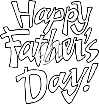 Royalty Free Clipart Image of Happy Father's Day