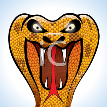 Royalty Free Clipart Image of a Cobra Head
