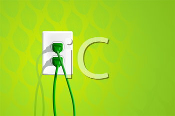 Royalty Free Clipart Image of an Electrical Outlet