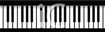 Royalty Free Clipart Image of Piano Keys