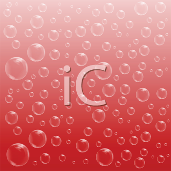 Royalty Free Clipart Image of a Red Bubble Background