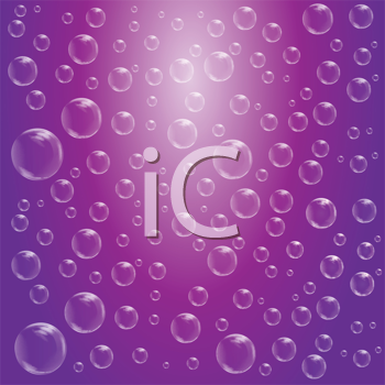 Royalty Free Clipart Image of a Water Drop Background
