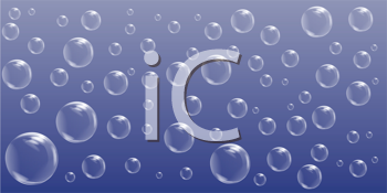 Royalty Free Clipart Image of a Blue Bubble Background
