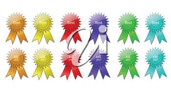 Colorful Award Ribbons Collection