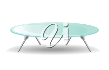 Glass Table. On white background.