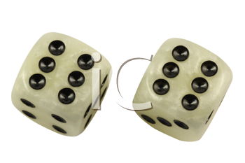 Royalty Free Photo of a Pair of Dice