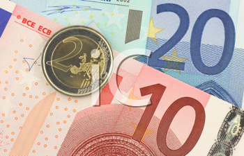 Royalty Free Photo of Euro Currency Up Close