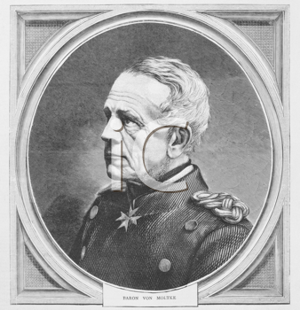 Royalty Free Photo of Helmuth von Moltke the Elder (1800-1891). Prussian field marshal, the greatest strategist of the latter half of the 19th century and the creator of the modern method of directing
