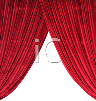 Royalty Free Photo of a Red Curtain