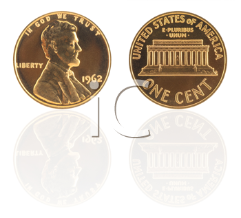 Royalty Free Photo of a USA One Cent Coin