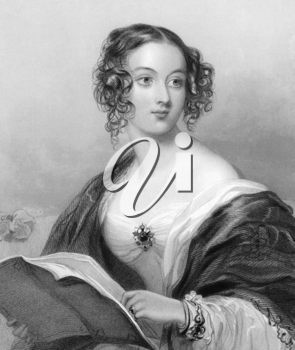 Emily Mary, Countess Cowper on engraving from 1839.