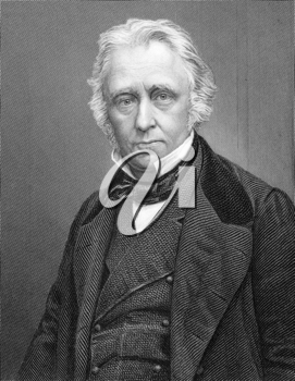 Thomas Babington Macaulay, 1st Baron Macaulay (1800-1859) on 1800s engraving. British poet, historian and Whig politician. Engraved by C.Cook and published by W.Mackenzie.
