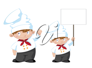 illustration of a cute cook