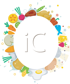 Royalty Free Clipart Image of a Food Frame