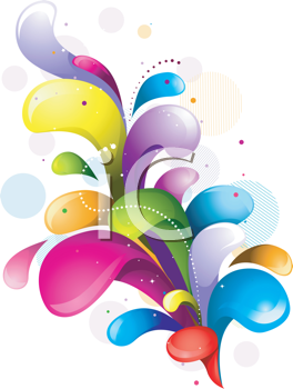 Royalty Free Clipart Image of a Rainbow Swirl