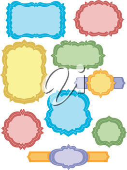 Illustration of Ready to Print Labels in Different Shapes