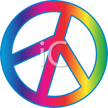 Royalty Free Clipart Image of a Peace Symbol