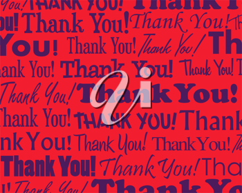 Royalty Free Clipart Image of a Thank You Background
