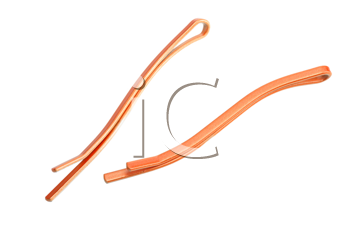 A pair of hairclips on white background, isolated