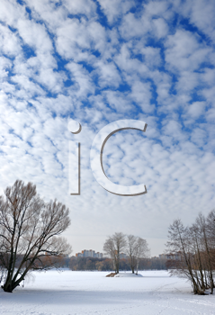 Royalty Free Photo of a Cloudy Sky in Winter