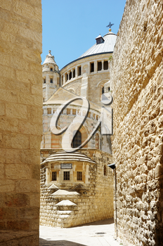 Dormition Abbey on the Mount Zion in Jerusalem