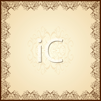 Royalty Free Clipart Image of a Guipure Frame