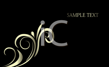 Royalty Free Clipart Image of a Decorative Template